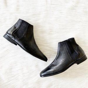 NEW Zara Men's Soft Real Leather Black Ankle Boots